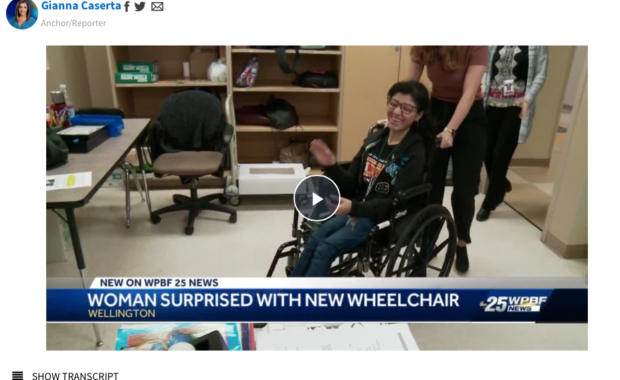 chariots of love donate a wheel chair to a girl with cerebral palsy