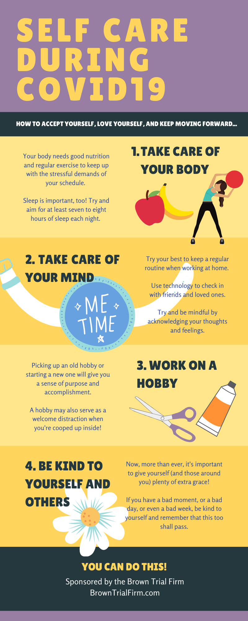 infographic Self Care During COVID-19